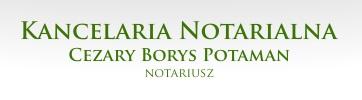KANCELARIA NOTARIALNA Notariusz Cezary Borys Potaman
